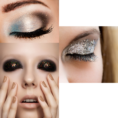 Glitter oog make up
